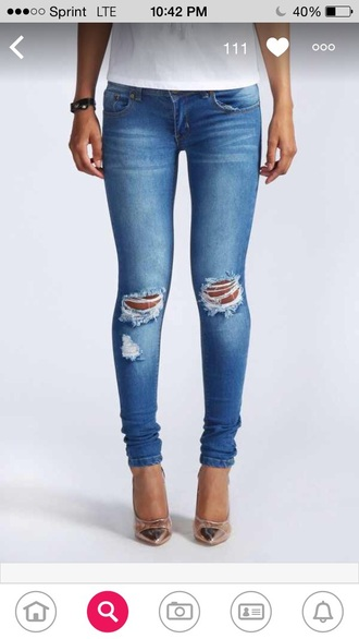 jeans ripped jeans skinny jeans