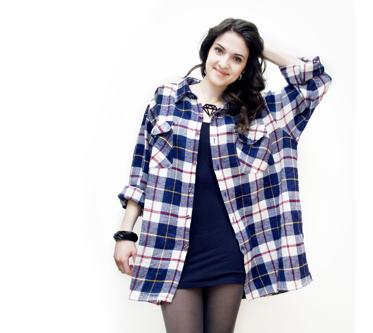 Oversized flannel shirt - Pop Sick Vintage