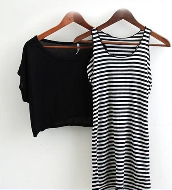 dress striped dress cardigan