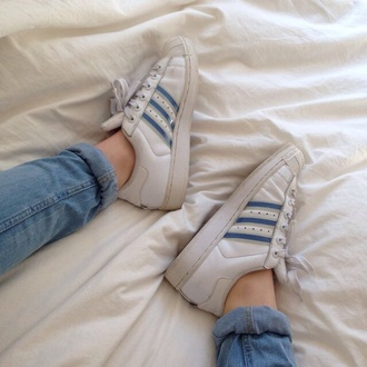shoes adidas white pastel blue vintage tumblr