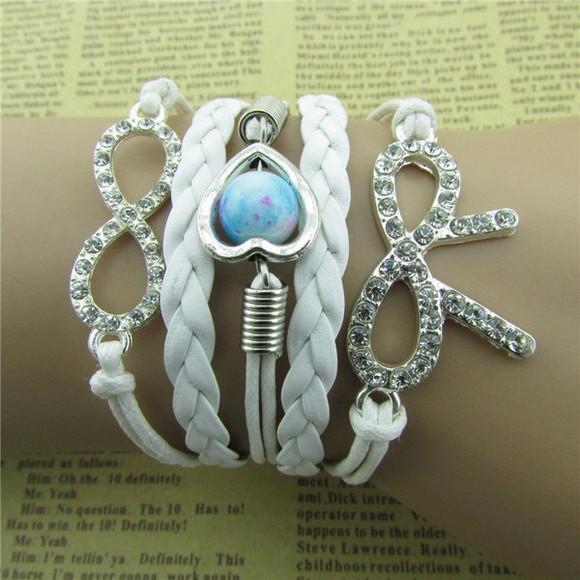jewels bracelets bowknot jewelry infinity bracelet wihte bracelet white jewelry popular little girls charming crystal jewerlry cool jewelry pearl bracelet