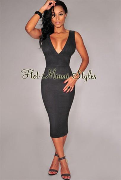 dress suede black dress