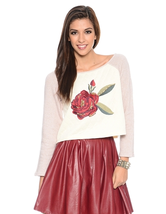 sweater rose roses