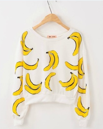 sweater food tropical sweatshirt banana