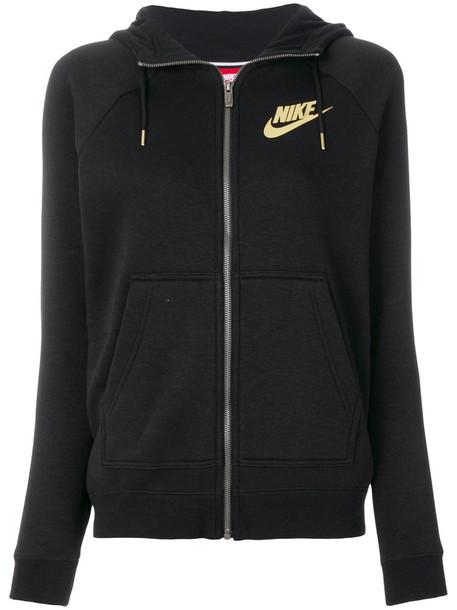 Nike - NSW Rally hoodie - women - Cotton/Polyester/Viscose - S, Black, Cotton/Polyester/Viscose