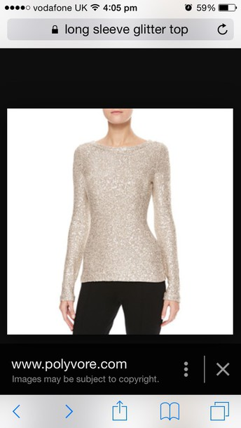 top glitter prom long sleeves long sleeve tops