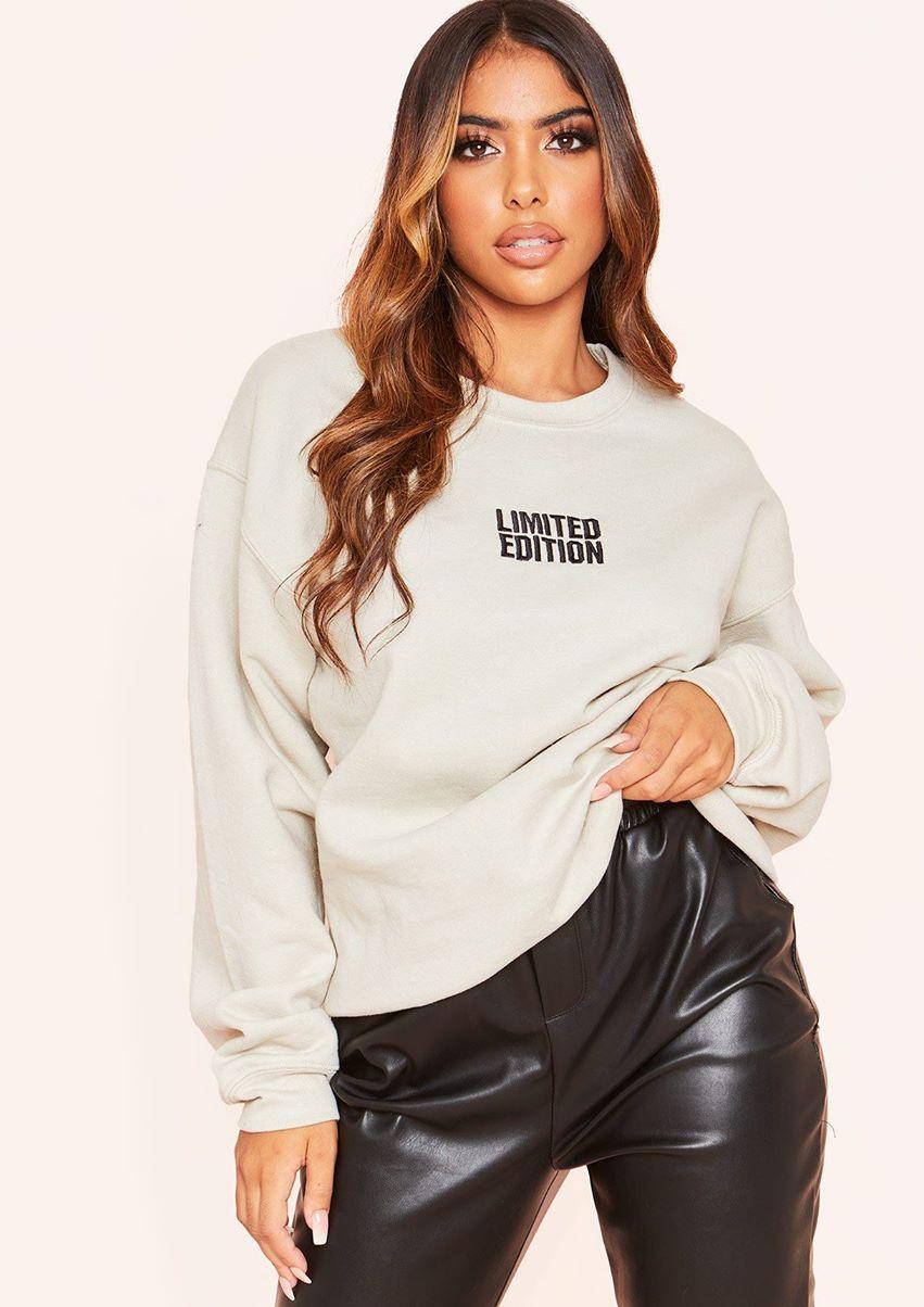 Lauren Beige Limited Edition Oversized Sweatshirt