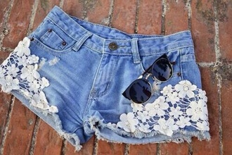 shorts flowers floral shorts jean shorts