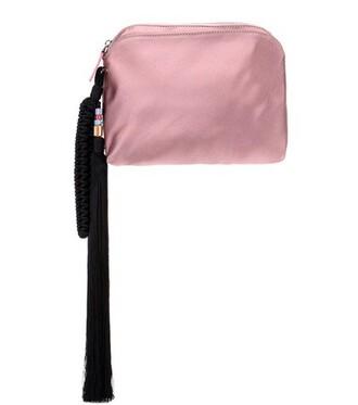 clutch silk satin pink bag