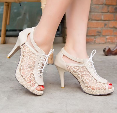 Stiletto lace heels