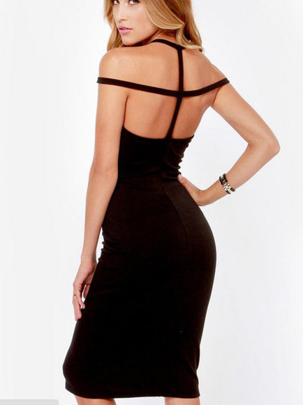 backless dress little black dress bodycon dress style cut-out cut-out dress caged dress cage chic vogue blogger dress