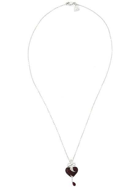 Stephen Webster heart women necklace pendant gold grey metallic jewels