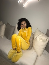 jumpsuit,tracksuit,sweater,hoodie,yellow,fall outfits,fashion,joggers,jogging suit,sweatpants