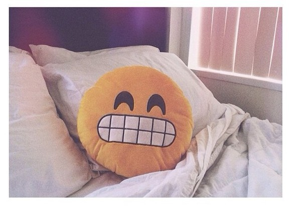 smiley face bag pillows jennxpenn