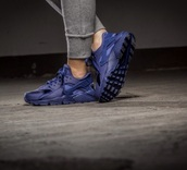 shoes,dark blue,huarache,blue,nike air huaraches,nike,nike shoes,huarache blue