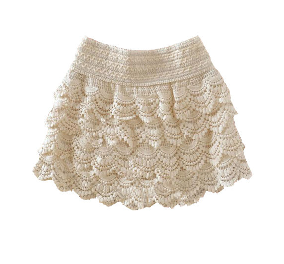 Fashion Women Girl Korean Sweet Cute Crochet Tiered Lace Shorts Skirts Pants HOT | eBay