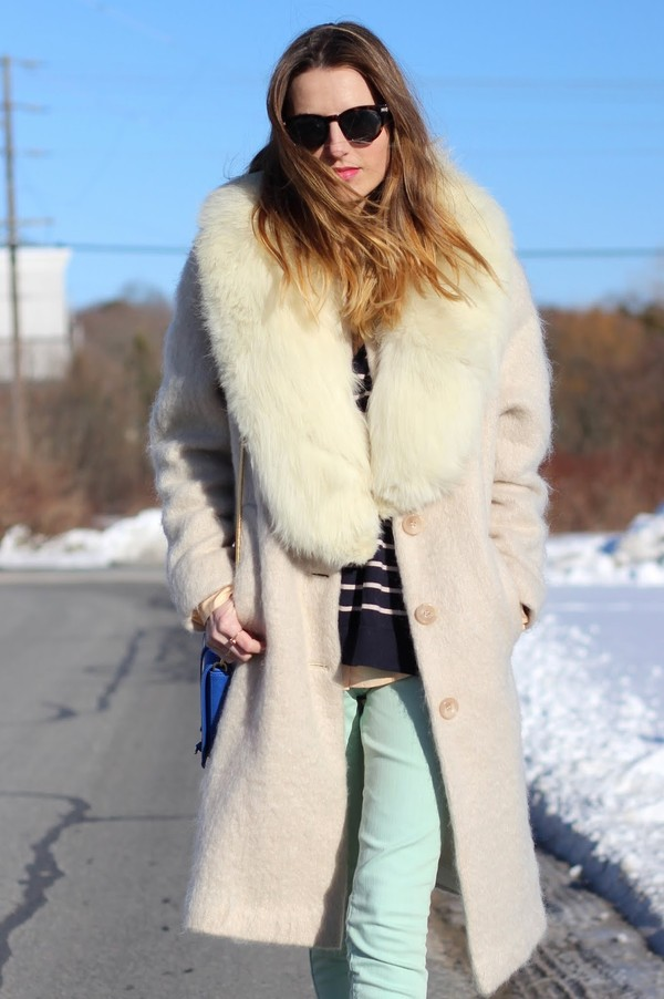 jess style rules coat t-shirt sweater jeans shoes sunglasses bag