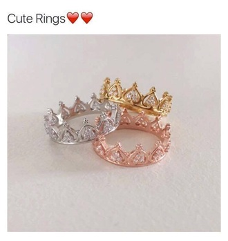 jewels rose gold crown rings just like these please