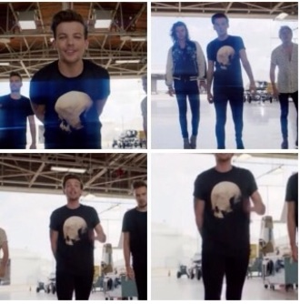 shirt one direction louis tomlinson moon black space