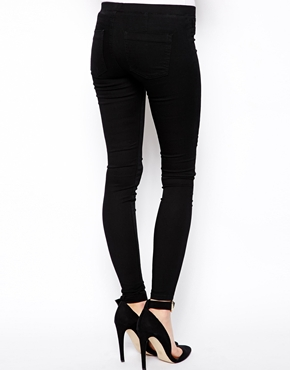 ASOS | ASOS Jameson Low Rise Denim Jeggings in Clean Black at ASOS