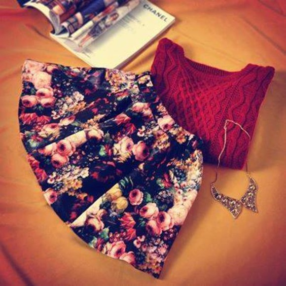 skirt floral floral skirt style stylish skirt