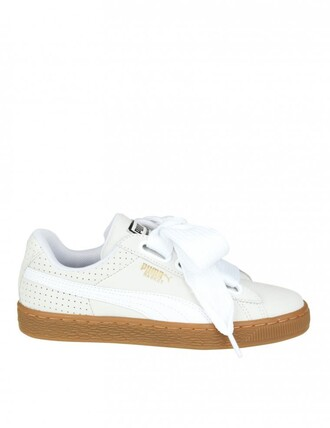 sneakers. heart sneakers leather white shoes