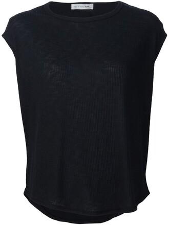 t-shirt shirt back open open back women spandex black top
