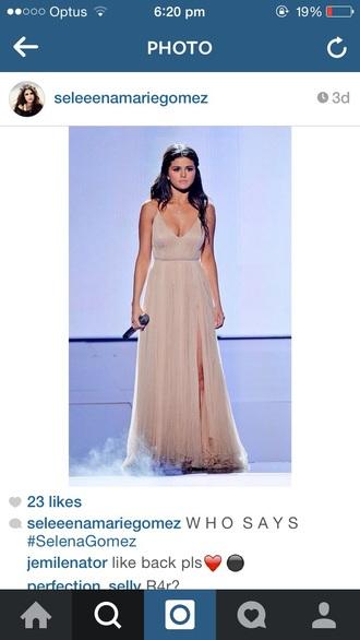dress selena gomez long slit armani formal formal.dress