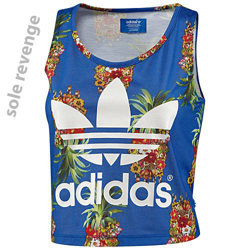 New! M adidas Originals FRUTAFLOR Tank Top Shirt Pineapple Flowers Brazil FARM