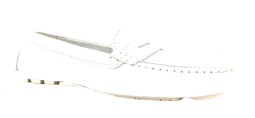 GANT JOLIE WOMEN'S PLAIN WHITE LEATHER SLIP ON DRIVING PENNY LOAFERS SHOES NEW | eBay