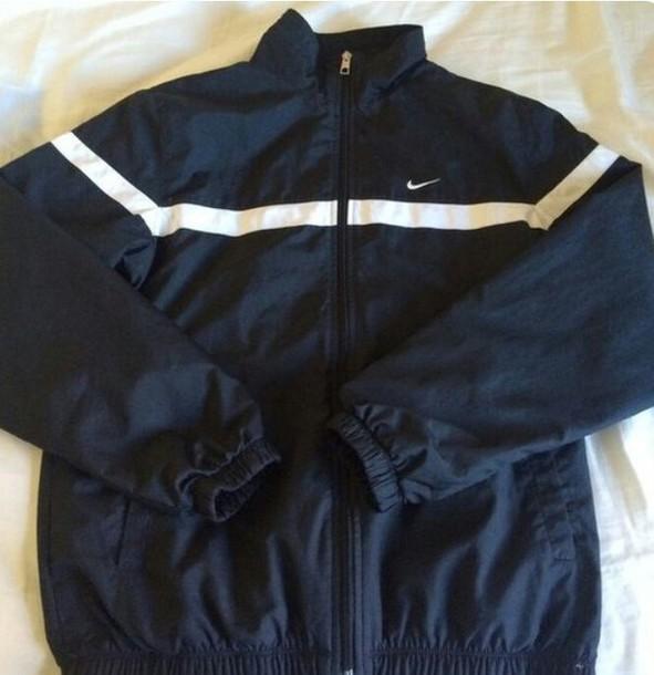 jacket nike windbreaker nikewindrunner nike windbreaker coat trendy navy  blue windbreaker sweatshirt 420643c61