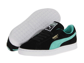 shoes pumas black turquoise