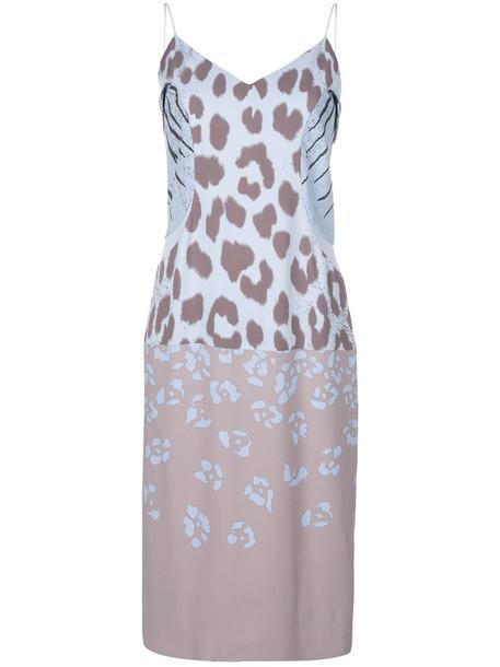 Salvatore Ferragamo dress slip dress women print silk