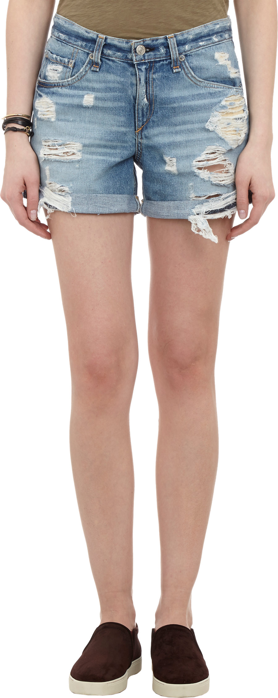 Rag & bone distressed boyfriend shorts at barneys.com