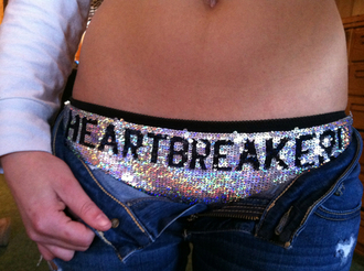 underwear glitter silver quote on it sequins panties sexy fashion style