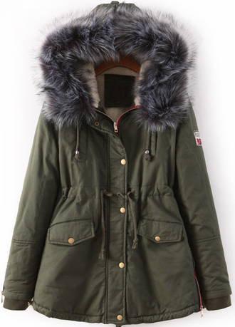 parka hood fauxfur coat