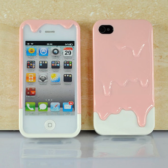 phone cover chocolate dip dyed pastel phone case rad ice cream cream iphone case it girl shop quote on it phone case tumblr weheartit kawaii