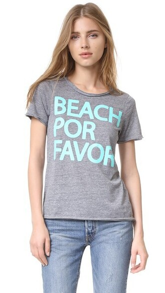 beach grey top