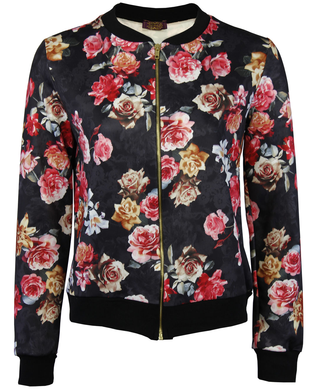 LADIES VINTAGE AUTUMN FLORAL PRINTED COAT WOMENS CROP BOMBER BIKER JACKET | eBay