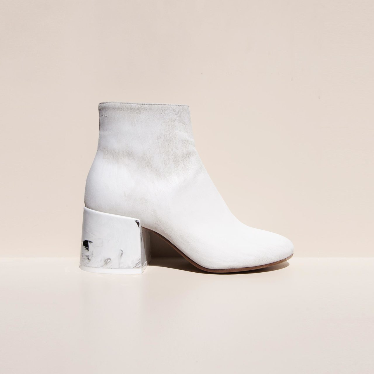 Painted Leather Ankle Boots