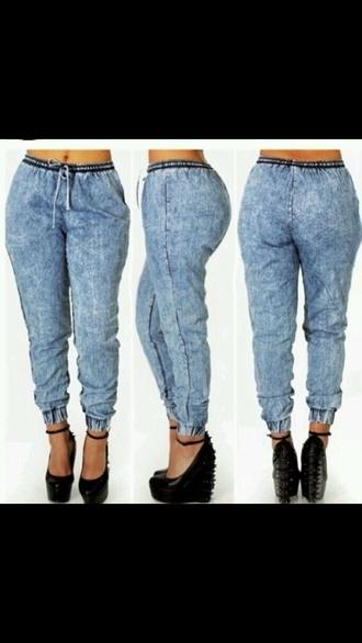 jeans acid wash jeans joggers pants stylish denim pants pants
