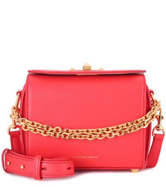 Alexander Mcqueen bag shoulder bag leather red
