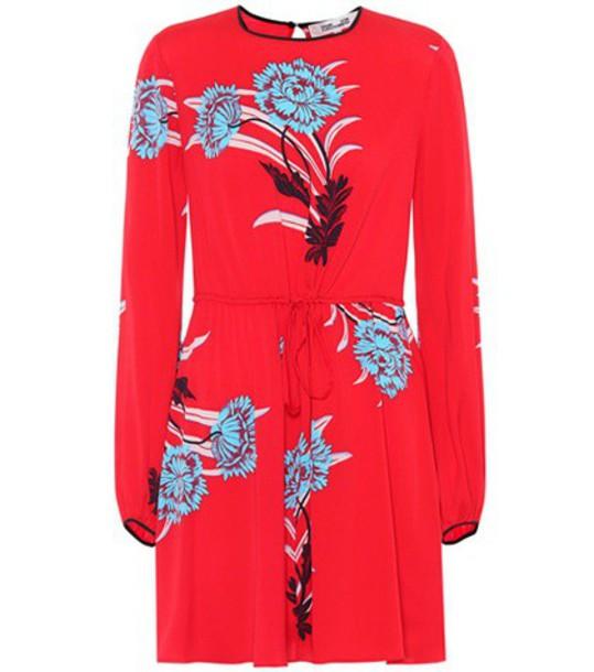 Diane Von Furstenberg silk red dress