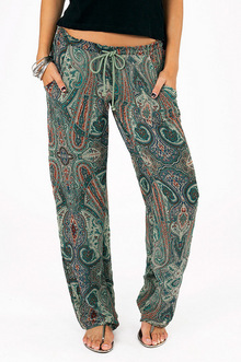 Live In Lounge Paisley Pants - Tobi