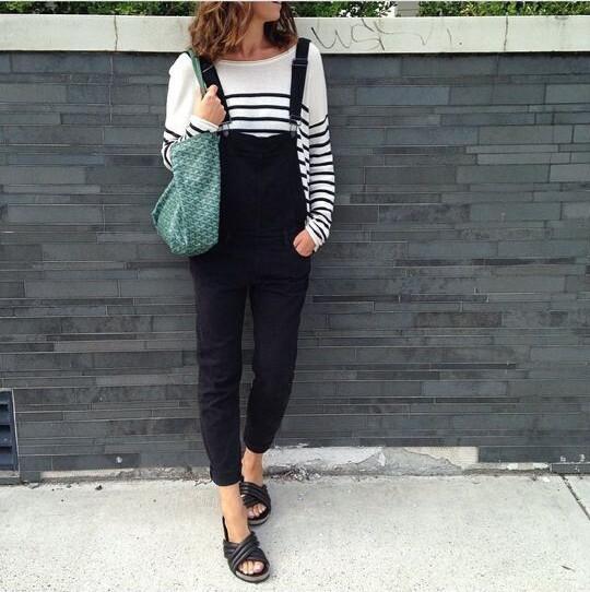 Black Denim Jumpsuit Women Shorts Jeans Overall Chic Slim Capris