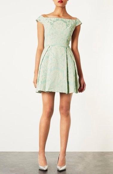dress floral dress mint