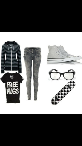 back to school converse glasses shoes black and white