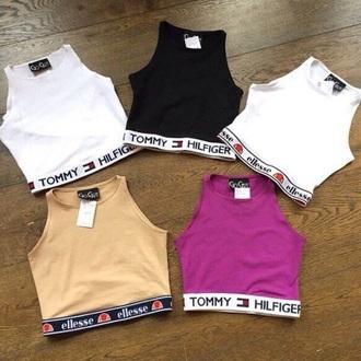 blouse tommy hilfiger crop tops