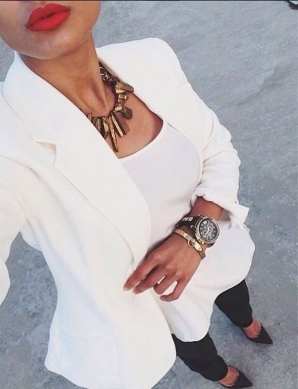 jewels necklace jacket