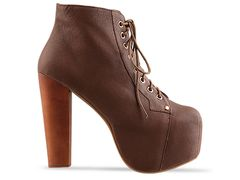 Jeffrey campbell lita in brown calf at solestruck.com